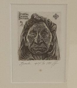 pentekening 32x42 cm